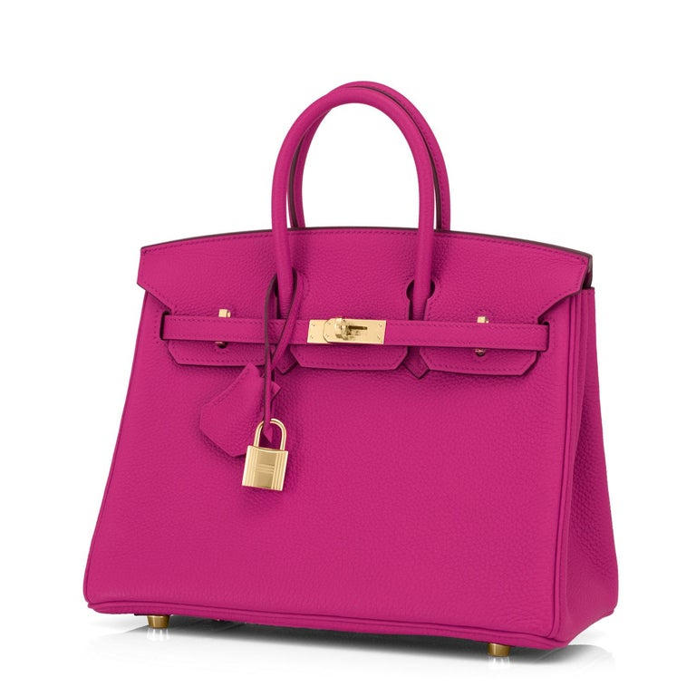 Hermes Birkin 25cm Rose Pourpre Togo Pink Gold Hardware Y Stamp, 2020 In New Condition For Sale In New York, NY