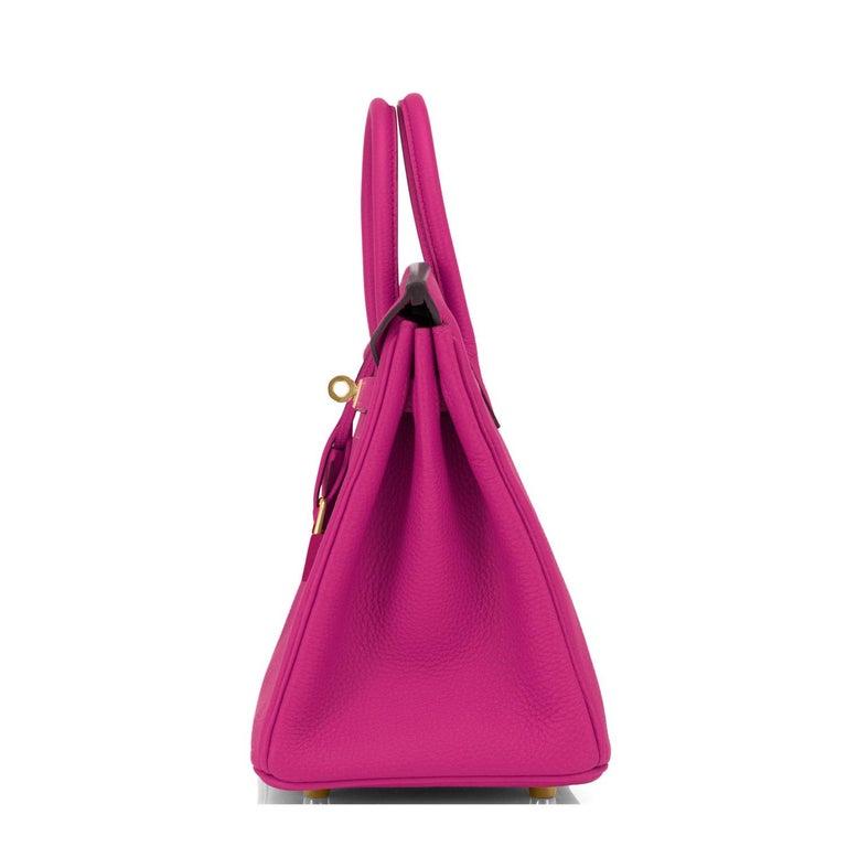 Hermes Birkin 25cm Rose Pourpre Togo Pink Gold Hardware Y Stamp, 2020 For Sale 1