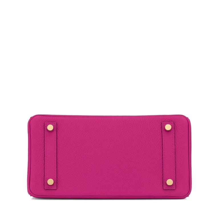 Hermes Birkin 25cm Rose Pourpre Togo Pink Gold Hardware Y Stamp, 2020 For Sale 2