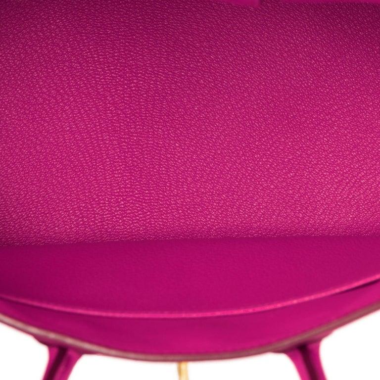 Hermes Birkin 25cm Rose Pourpre Togo Pink Gold Hardware Y Stamp, 2020 For Sale 3
