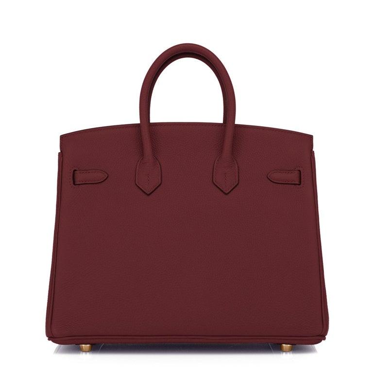 Hermes Birkin 25cm Rouge H Bordeaux Red Gold Hardware Bag Y Stamp, 2020 For Sale 1