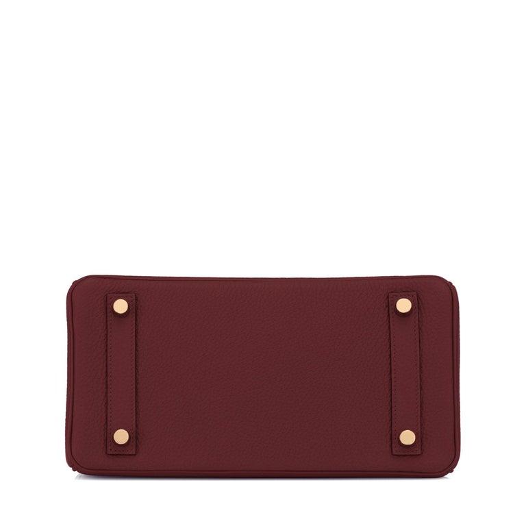 Hermes Birkin 25cm Rouge H Bordeaux Red Gold Hardware Bag Y Stamp, 2020 For Sale 2