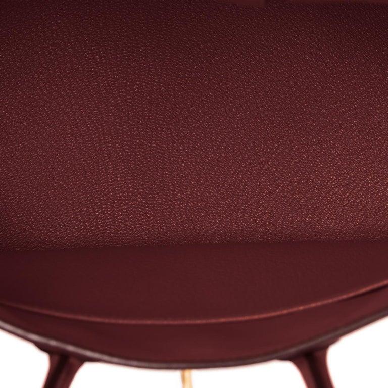 Hermes Birkin 25cm Rouge H Bordeaux Red Gold Hardware Bag Y Stamp, 2020 For Sale 3