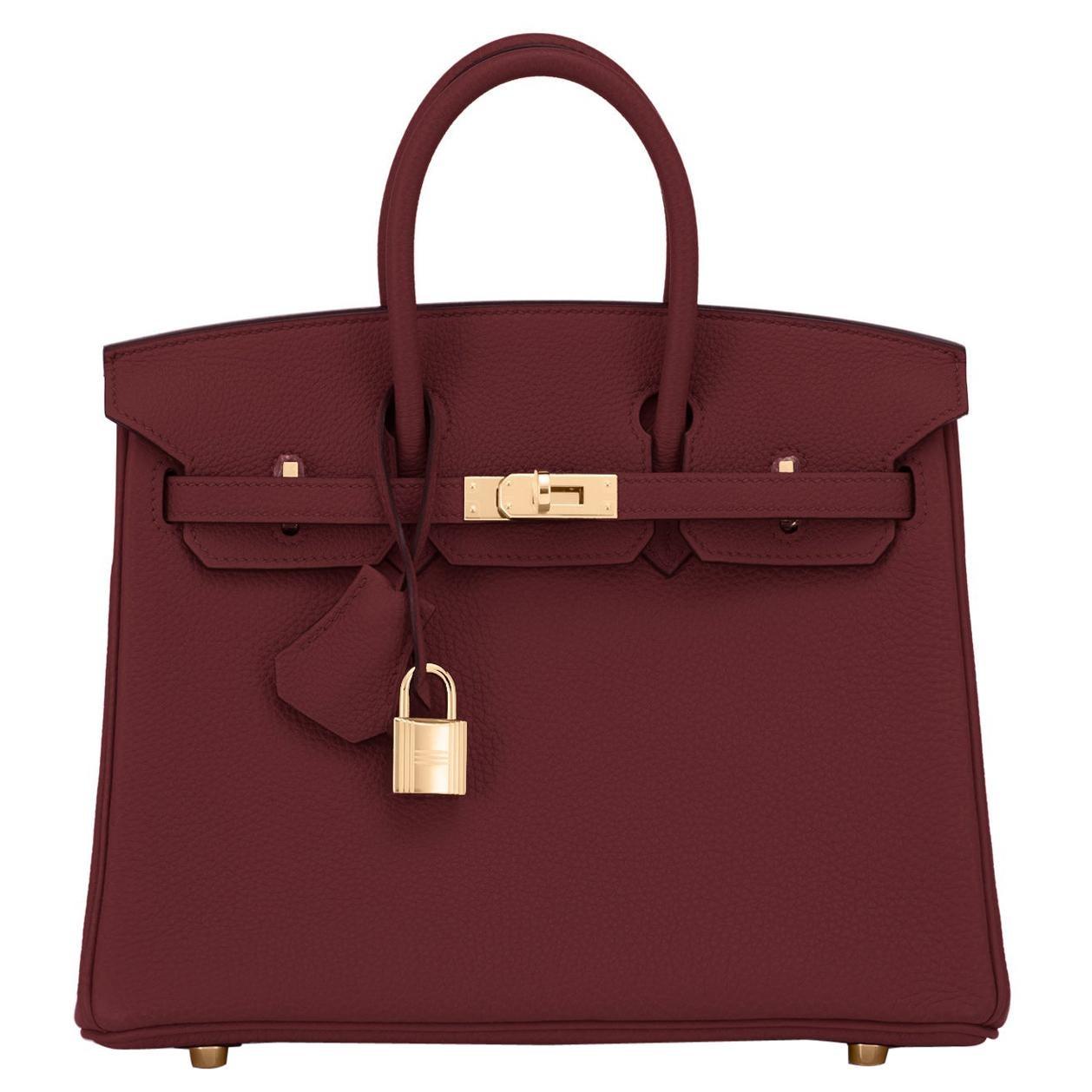 Hermes Birkin 25cm Rouge H Bordeaux Red Gold Hardware Bag Y Stamp, 2020