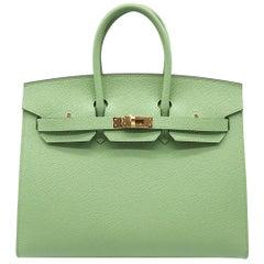 Hermès Birkin 25cm Sellier Vert Criquet Epsom Leather Gold Hardware