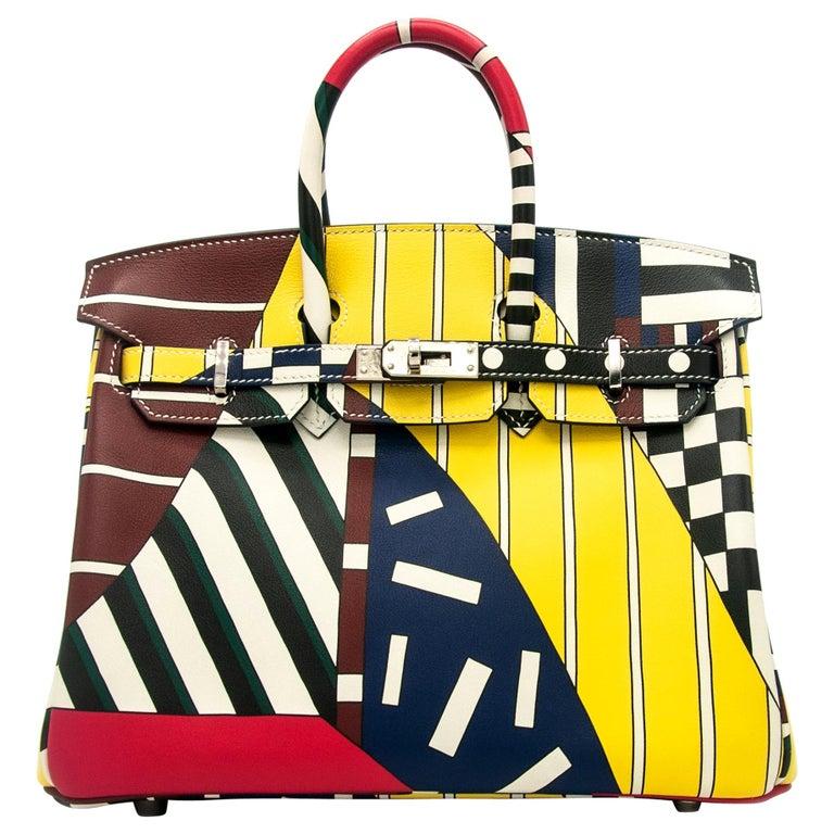 """Hermès Birkin 25cm Swift Leather """"One, Two, Three & Away We Go"""" by Nigel Peake  For Sale"""