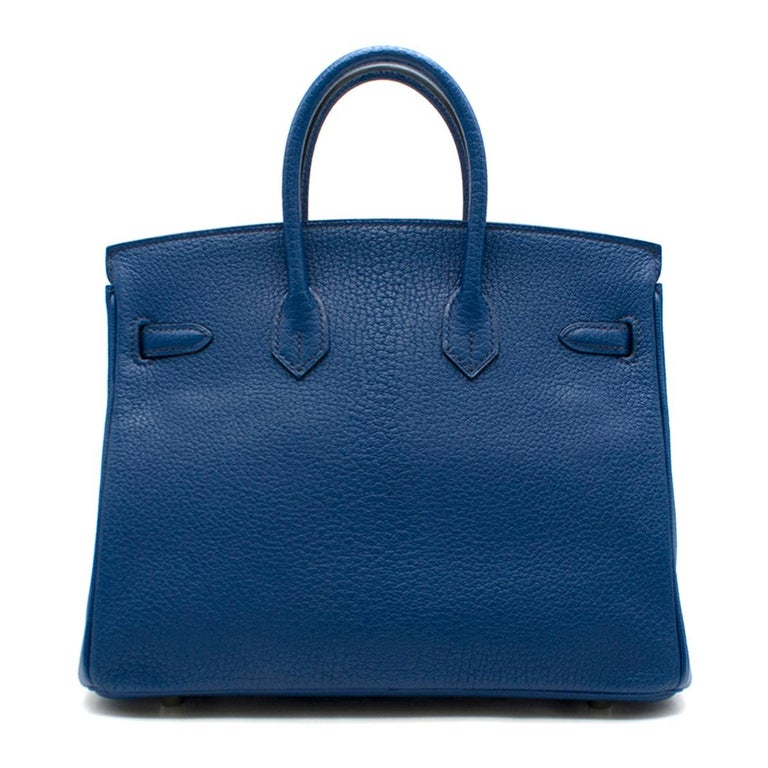 Hermes Birkin 25cm Thalassa Togo Leather - Special Order In Excellent Condition For Sale In London, GB