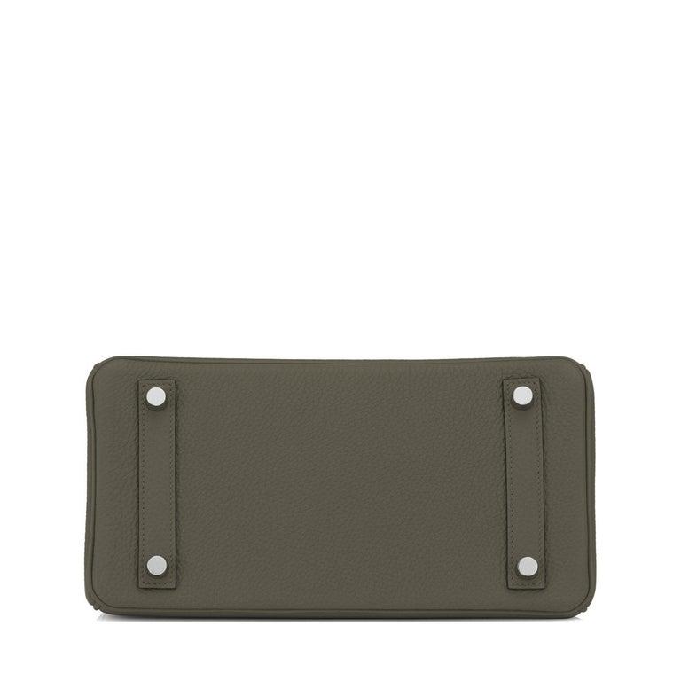 Hermes Birkin 25cm Vert Maquis Military Green Togo Palladium Bag Y Stamp, 2020  For Sale 3