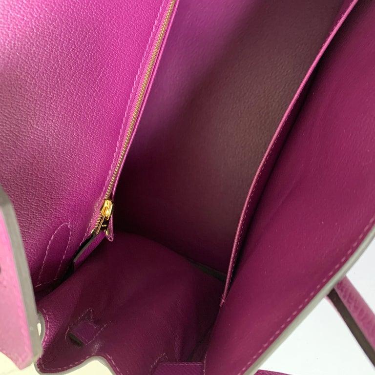 Hermes Birkin 30 Anemone Purple Epsom Gold Hardware Exotic Beauty For Sale 5