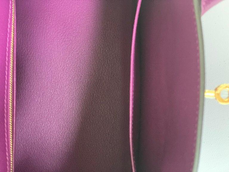 Hermes Birkin 30 Anemone Purple Epsom Gold Hardware Exotic Beauty For Sale 6