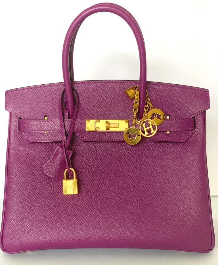 Hermes Birkin 30cm Anemone a favorite among collectors Epsom Leather Gold Hardware  If you like epsom, this is the bag for you, as in this color it is very rare to find it in epsom Waitlists are closed, why wait when you can buy it now without any