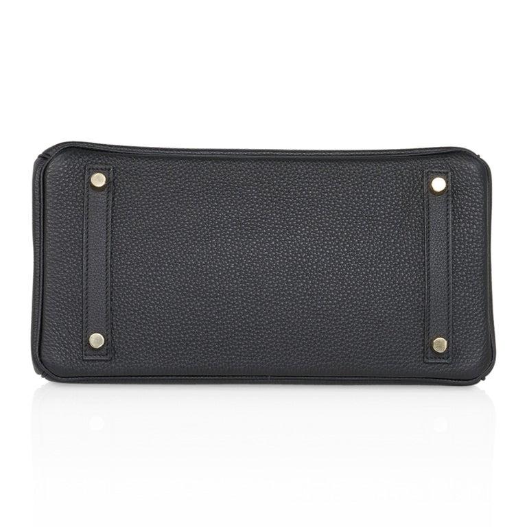 Hermes Birkin 30 Bag Black Gold Hardware Togo Leather For Sale 6