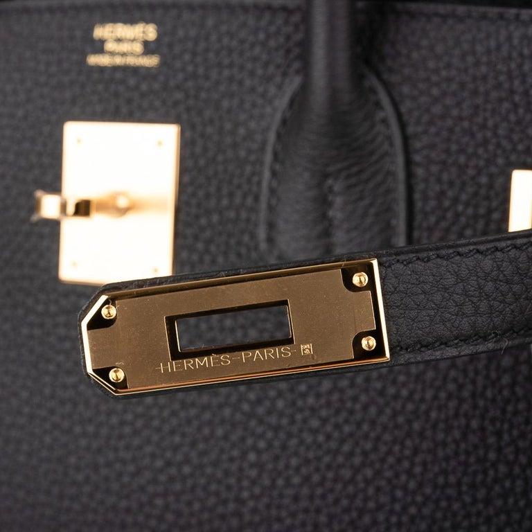 Hermes Birkin 30 Bag Black Gold Hardware Togo Leather In New Condition For Sale In Miami, FL
