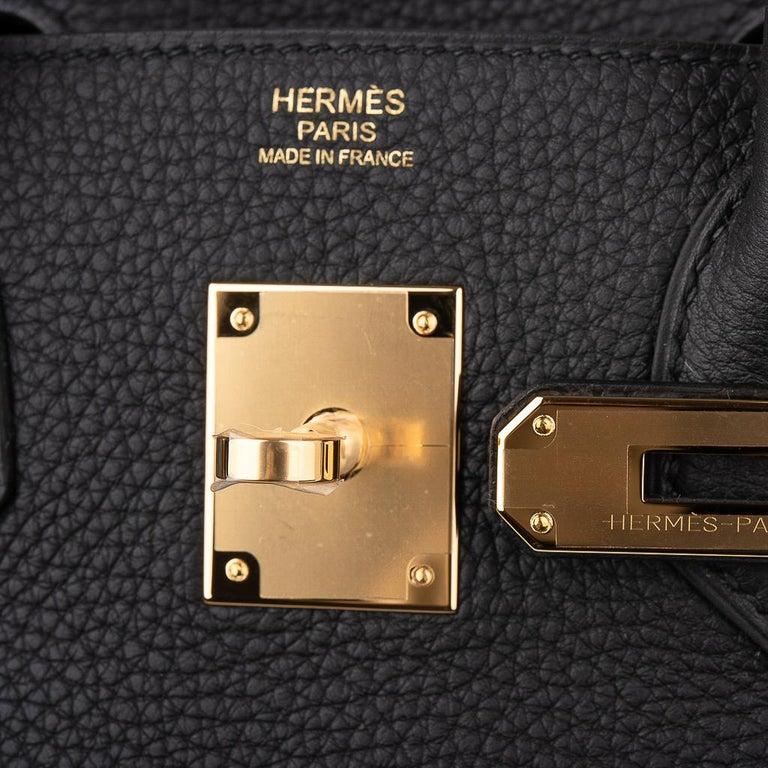 Women's Hermes Birkin 30 Bag Black Gold Hardware Togo Leather For Sale