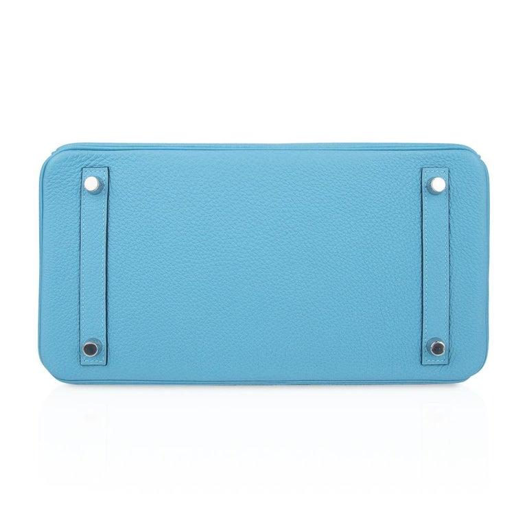Hermes Birkin 30 Bag Blue du Nord Togo Palladium  For Sale 6