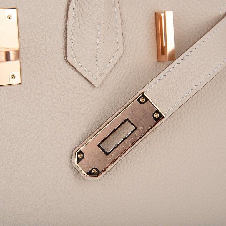 Women's Hermes Birkin 30 Bag Craie Rose Gold Hardware New w/ Box For Sale