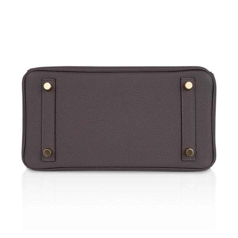 Hermes Birkin 30 Bag Etain Gray Gold Hardware Togo Leather For Sale 6
