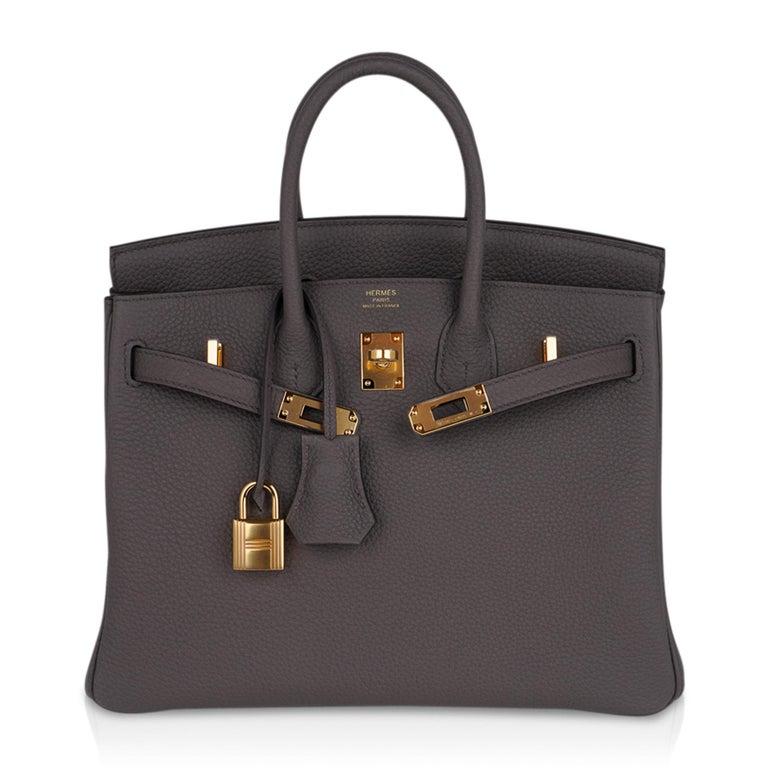Hermes Birkin 30 Bag Etain Gray Gold Hardware Togo Leather For Sale 4