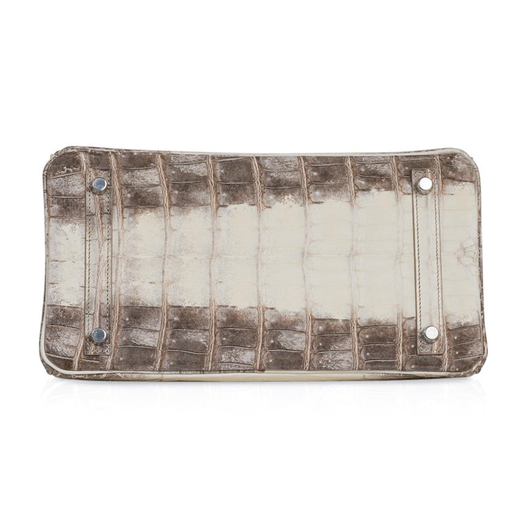 Hermes Birkin 30 Bag Exquisite Blanc Himalaya Palladium Hardware For Sale 4