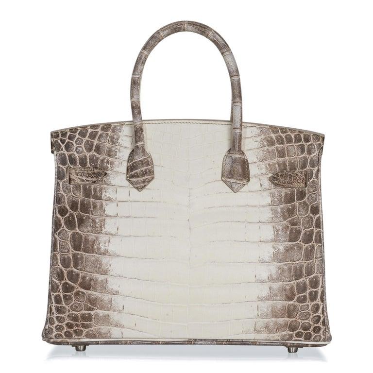 Hermes Birkin 30 Bag Exquisite Blanc Himalaya Palladium Hardware For Sale 3