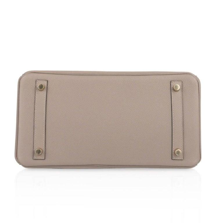 Hermes Birkin 30 Bag Gris Asphalte Togo Gold Hardware Perfect Neutral For Sale 5