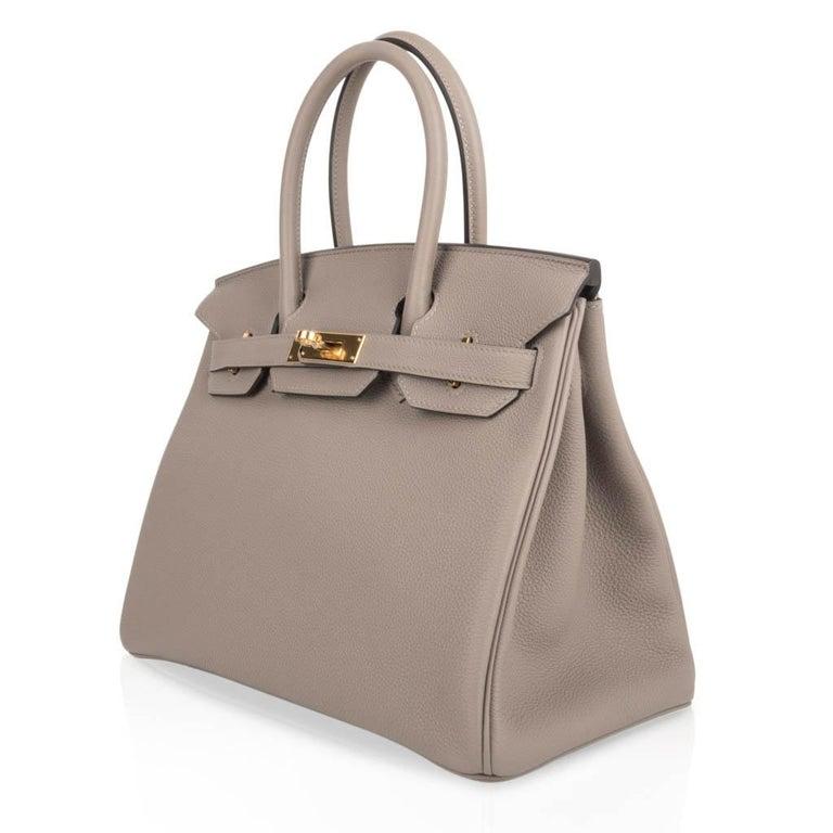 Hermes Birkin 30 Bag Gris Asphalte Togo Gold Hardware Perfect Neutral For Sale 1