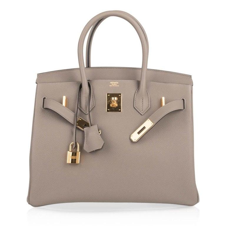 Hermes Birkin 30 Bag Gris Asphalte Togo Gold Hardware Perfect Neutral For Sale 2