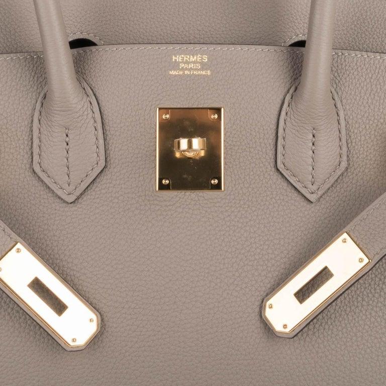 Hermes Birkin 30 Bag Gris Asphalte Togo Gold Hardware Perfect Neutral For Sale 3