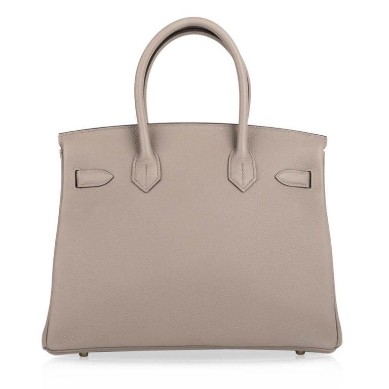 Hermes Birkin 30 Bag Gris Asphalte Togo Gold Hardware Perfect Neutral For Sale 4