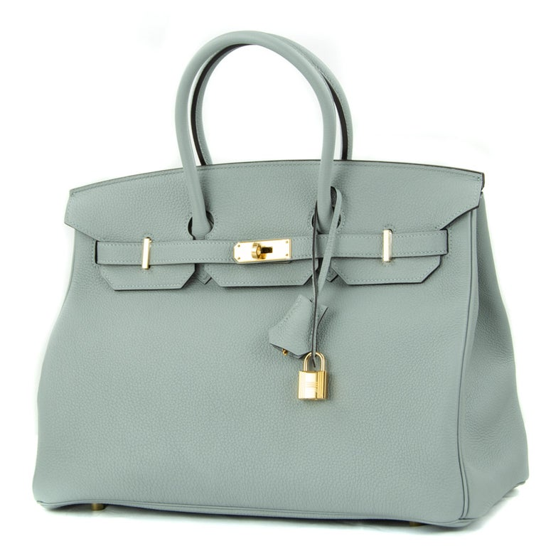 Hermes 30cm Birkin bag in Gris Mouette Togo. This iconic special order Hermes Birkin bag is timeless and chic. Fresh and crisp with gold hardware.      Condition: New or Never Used     Made in France     Bag Measures: 30cm (11.8