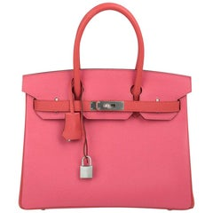 Hermes Birkin 30 Bag HSS Rose Azalee Rose Jaipur Brushed Palladium Hardware
