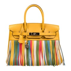 Hermes Birkin 30 Bag  HSS Soleil Multi Colour Fringe Limited Edition