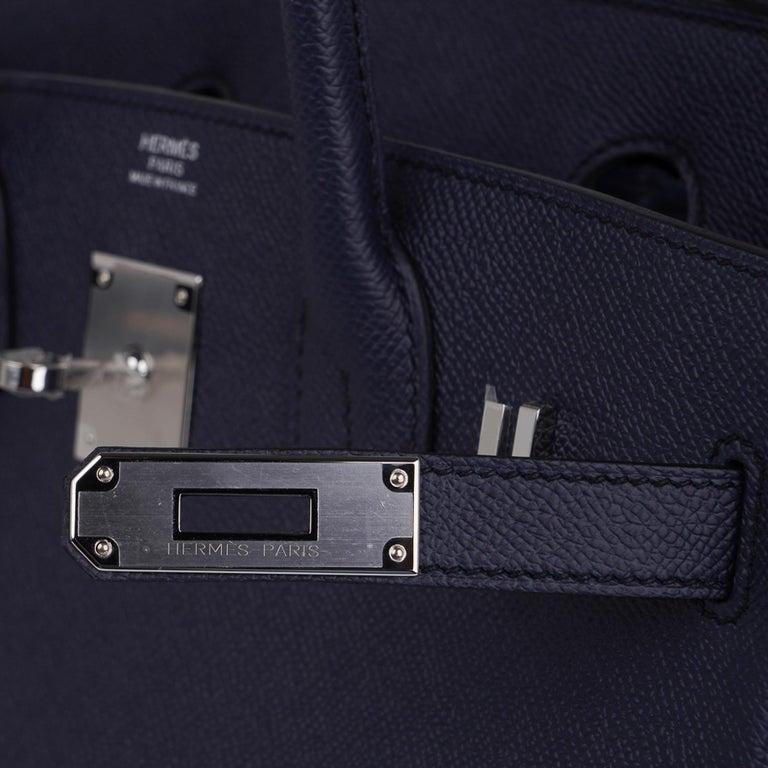 Hermes Birkin 30 Bag Indigo Epsom Palladium Hardware New w/ Box In New Condition For Sale In Miami, FL