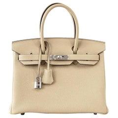 Hermes Birkin 30 Bag Neutral Perfection Trench Palladium Hardware