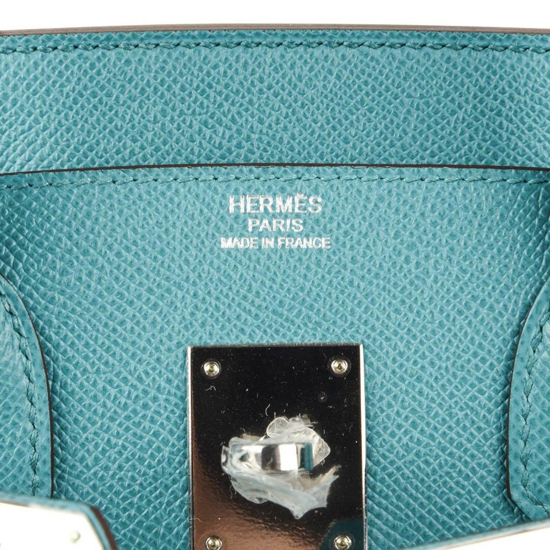 c474a60fd05a Hermes Birkin 30 Bag Rare Blue Paon Epsom Palladium Hardware at 1stdibs
