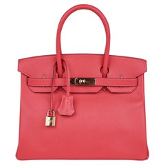 Hermes Birkin 30 Bag Rose Jaipur Pink Epsom Gold Hardware