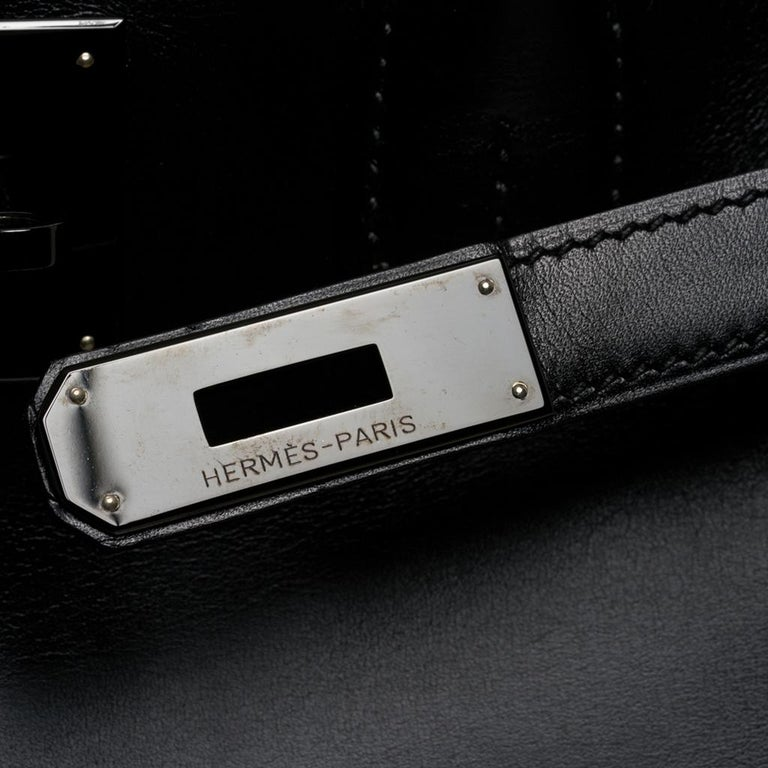 Hermes Birkin 30 Bag So Black Limited Edition Box Leather In Good Condition For Sale In Miami, FL