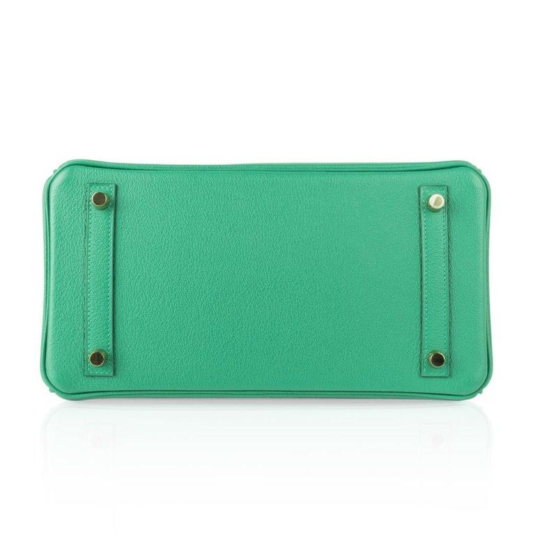 Hermes Birkin 30 Bag Vert Vertigo Green Gold Hardware For Sale 5