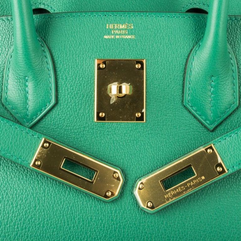 Hermes Birkin 30 Bag Vert Vertigo Green Gold Hardware In New Condition For Sale In Miami, FL