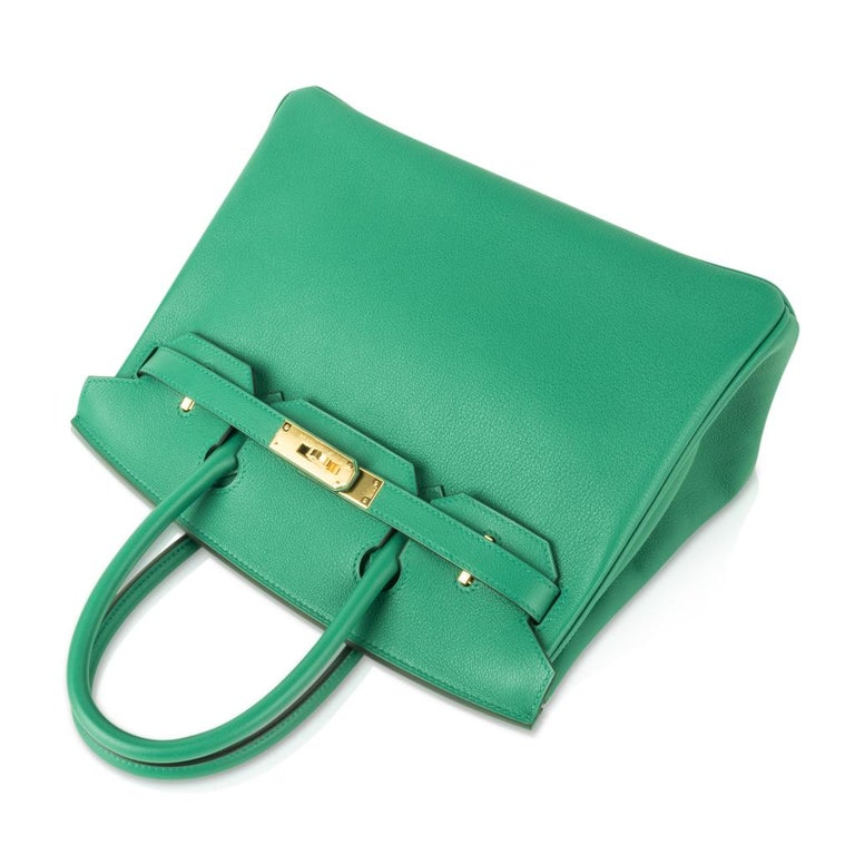 Hermes Birkin 30 Bag Vert Vertigo Green Gold Hardware For Sale 1