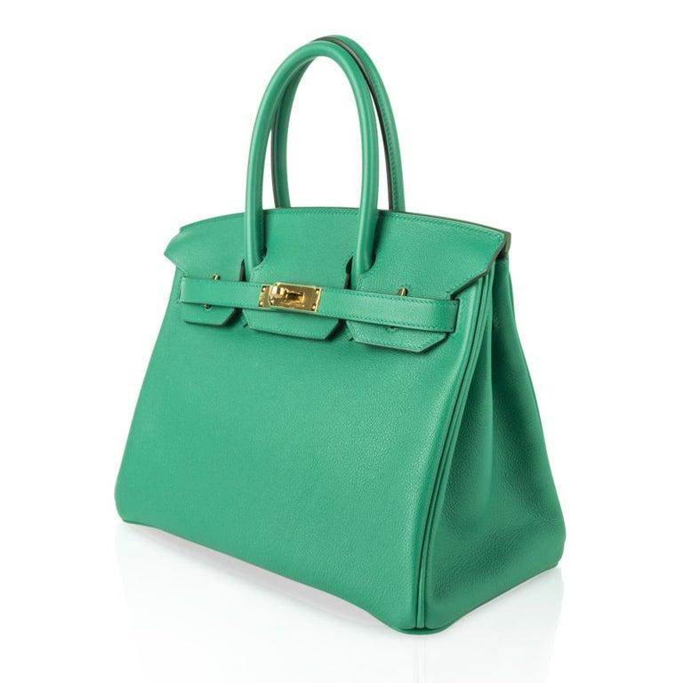 Hermes Birkin 30 Bag Vert Vertigo Green Gold Hardware For Sale 2