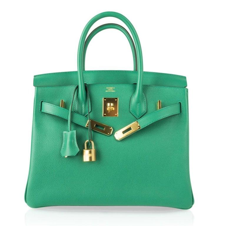 Hermes Birkin 30 Bag Vert Vertigo Green Gold Hardware For Sale 3