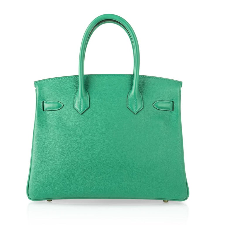 Hermes Birkin 30 Bag Vert Vertigo Green Gold Hardware For Sale 4