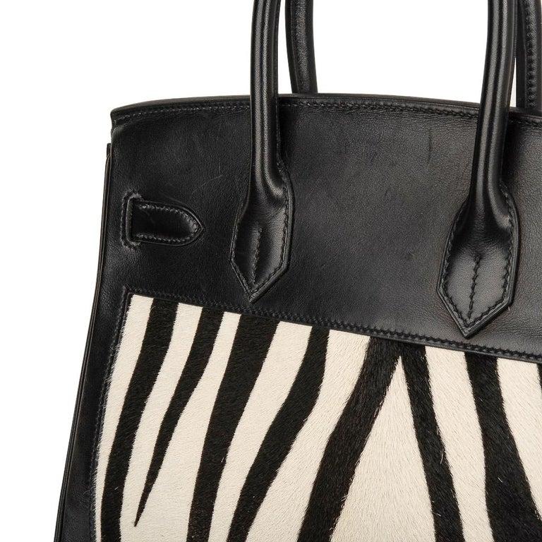 Hermes Birkin 30 Bag Vintage Zebra Print Pony Limited Edition Very Rare 5