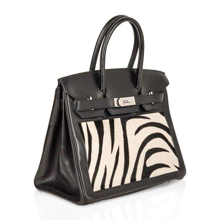 Women's Hermes Birkin 30 Bag Vintage Zebra Print Pony Limited Edition Very Rare
