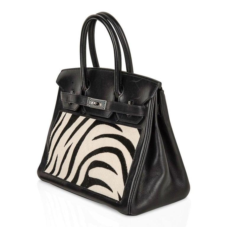 Hermes Birkin 30 Bag Vintage Zebra Print Pony Limited Edition Very Rare 1