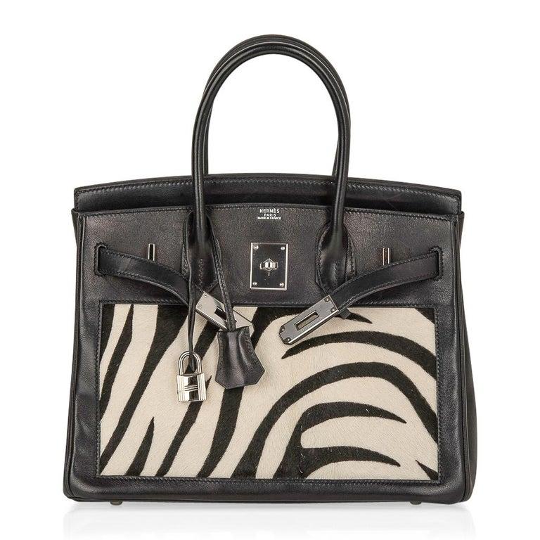 Hermes Birkin 30 Bag Vintage Zebra Print Pony Limited Edition Very Rare 2