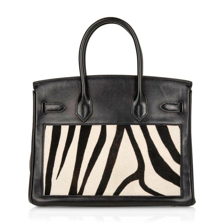 Hermes Birkin 30 Bag Vintage Zebra Print Pony Limited Edition Very Rare 3