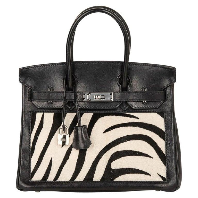 Hermes Birkin 30 Bag Vintage Zebra Print Pony Limited Edition Very Rare