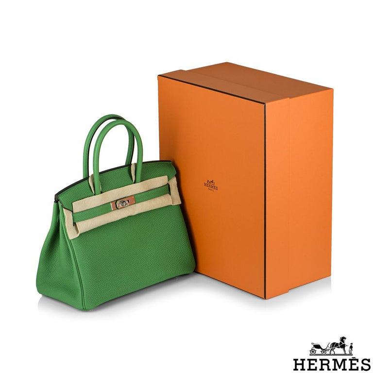 Hermès Birkin 30 Bambou/ Caramel Verso Togo PHW For Sale 5